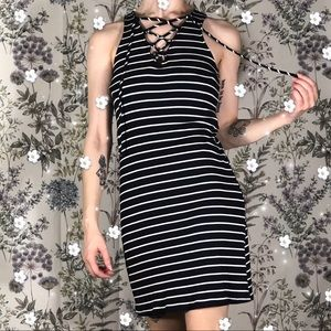 Nordstrom Striped Small Sexy Lace Up Summer Dress